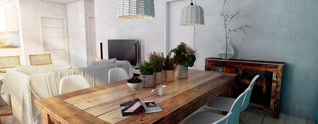 Studio Frasson Mediterranean style dining room
