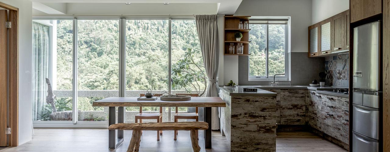 潤澤明亮設計事務所 Rustic style dining room