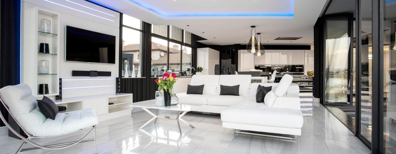ULTRA MODERN RESIDENCE FRANCOIS MARAIS ARCHITECTS Modern living room