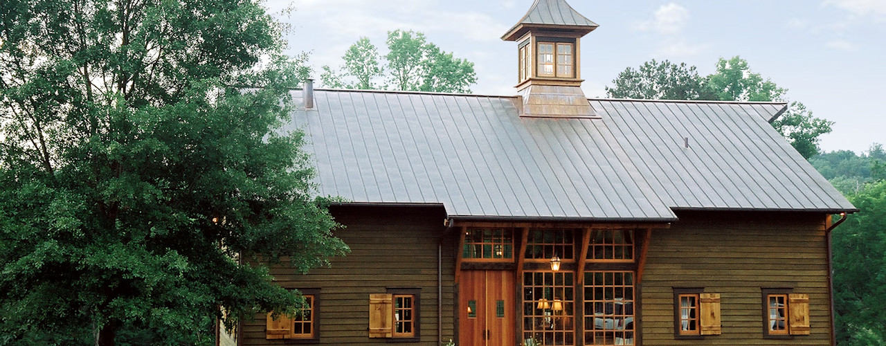 Luxury Barn Jeffrey Dungan Architects Country style house Wood Green