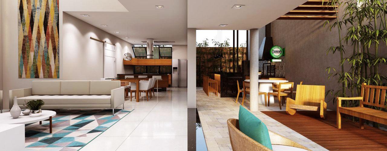 Lozí - Projeto e Obra Salas de estilo moderno