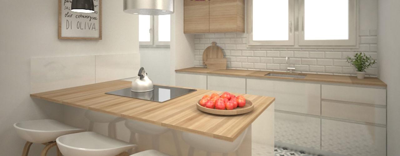 Grupo Inventia Modern Kitchen Wood Wood effect