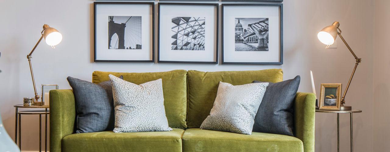 Musewll Hill, London Jigsaw Interior Architecture Salas de estar ecléticas Cobre/Bronze/Latão Verde