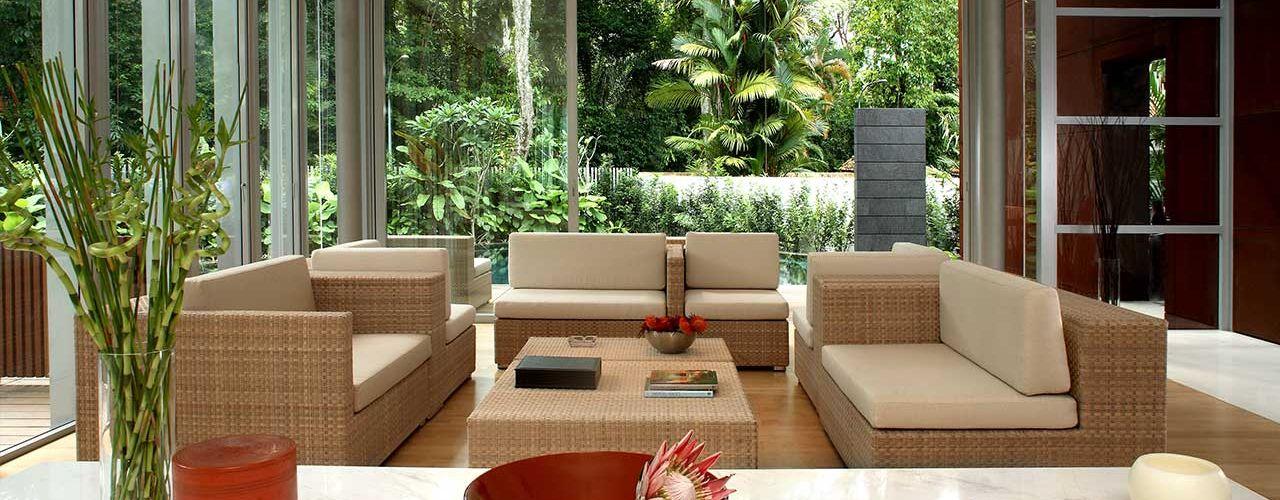 HB Design Pte Ltd Livings de estilo asiático