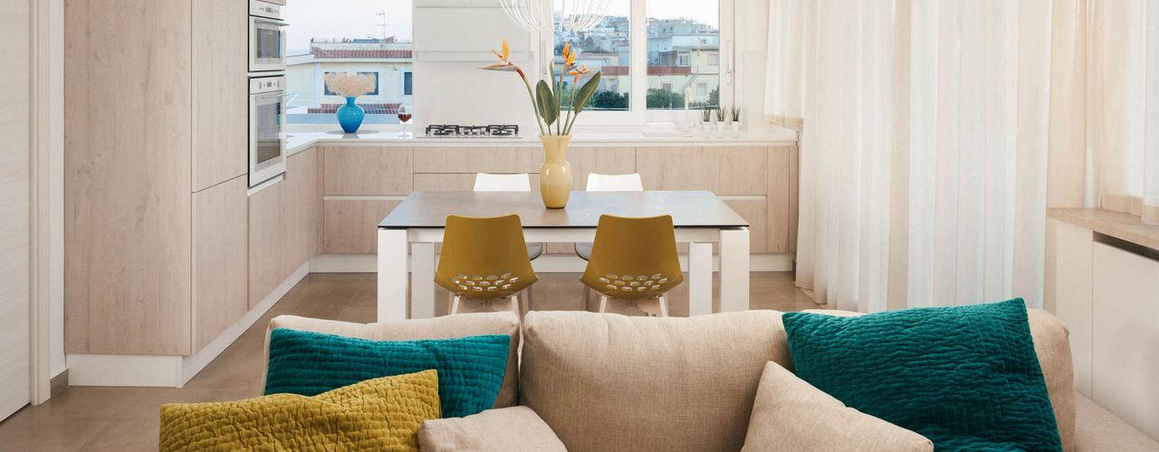 Casa N+V manuarino architettura design comunicazione Cucina moderna Beige