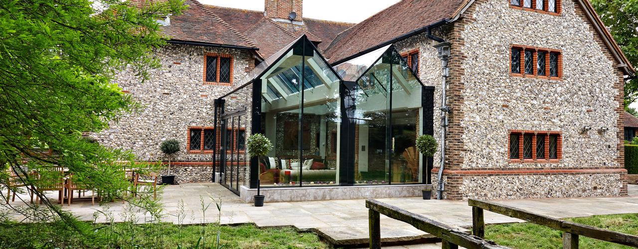South Coast Glass Extension Trombe Ltd Modern Living Room