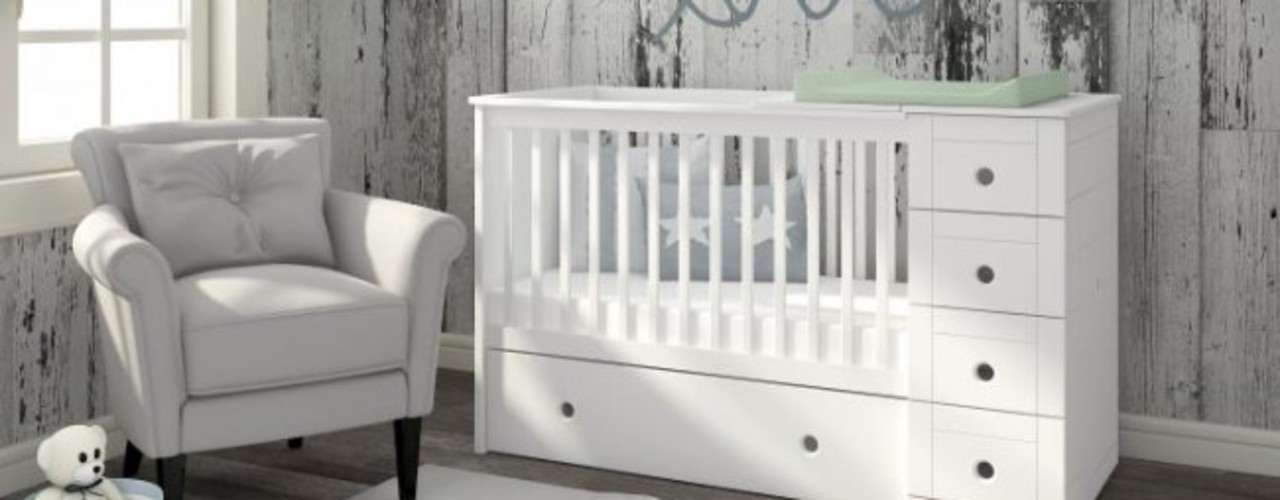 homify Baby room Wood White