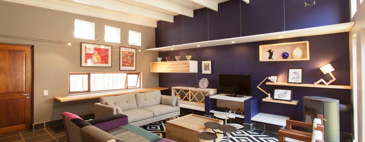 Redesign Interiors Ruang Keluarga Gaya Eklektik