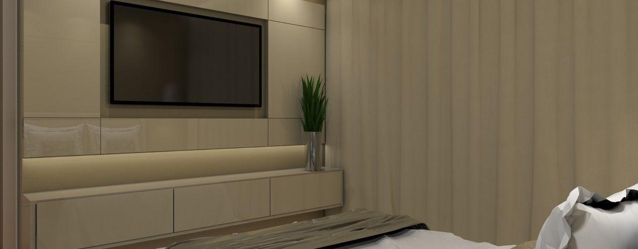Nayla Diniz Arquitetura غرفة نوم