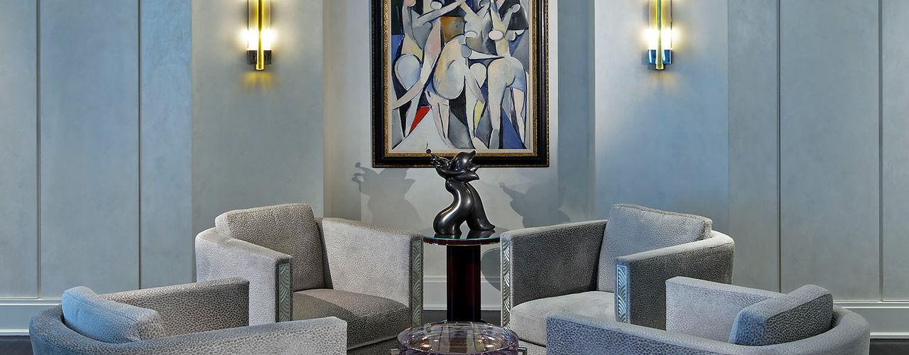 Art Deco Inspired Home Douglas Design Studio Living room