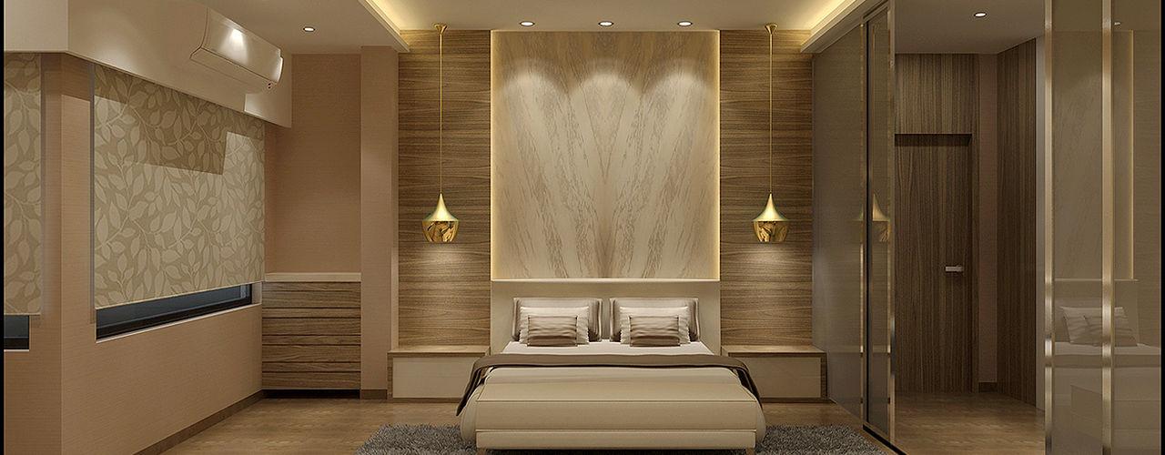 homify Minimalist bedroom Engineered Wood Brown
