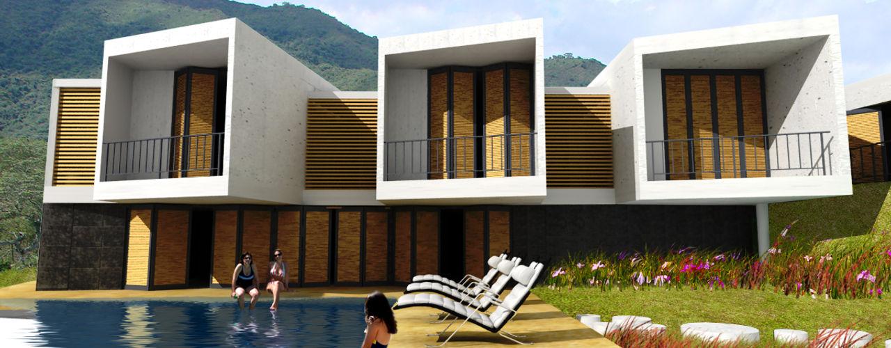 @tresarquitectos Casas de estilo minimalista