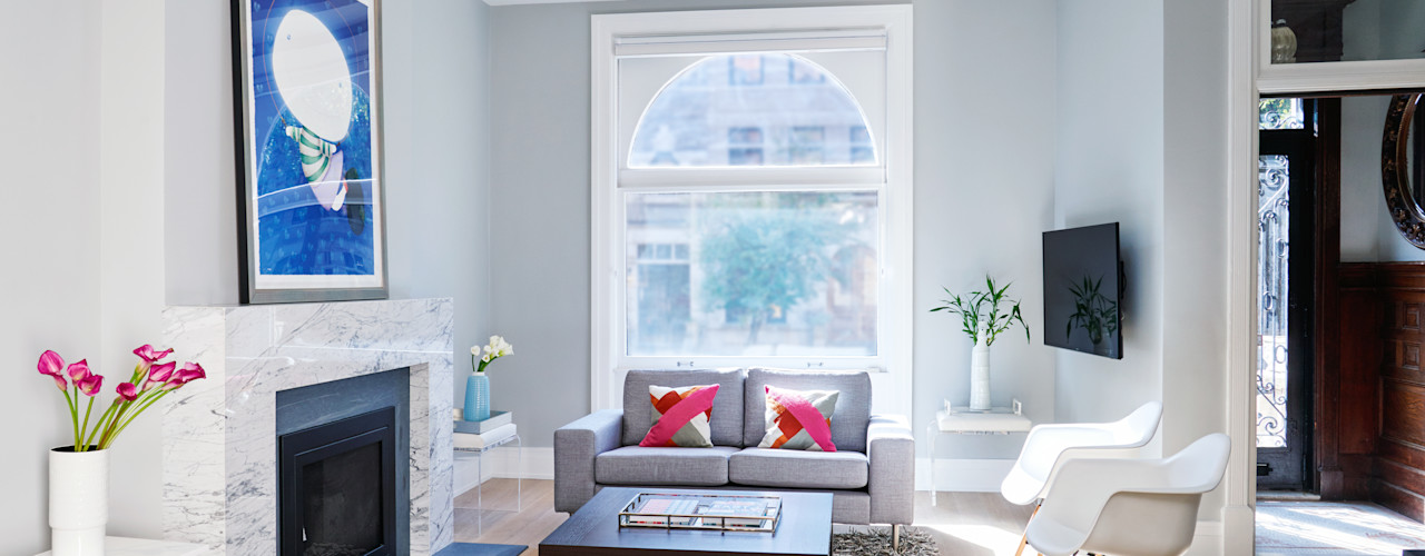 Park Slope Townhouse Sarah Jefferys Design Modern Living Room