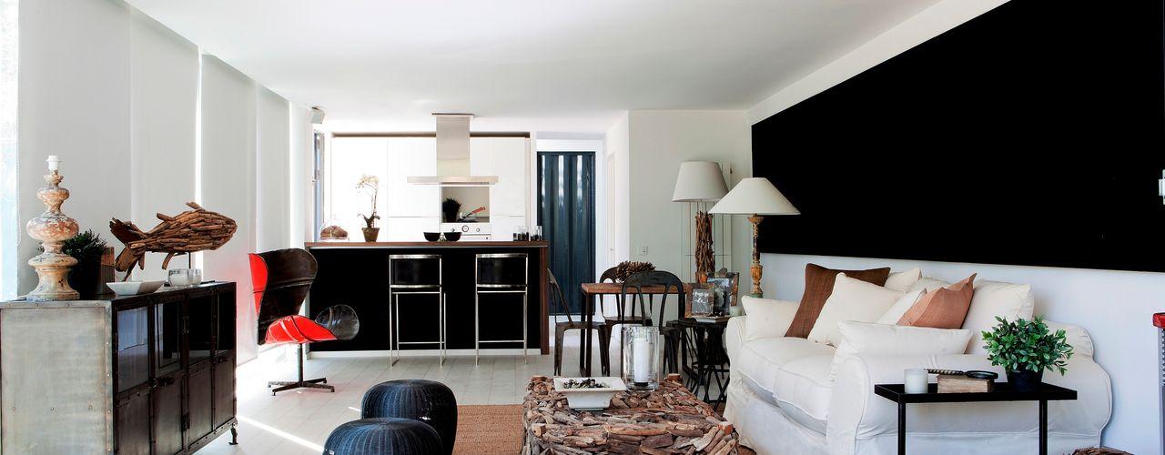 james&mau 现代客厅設計點子、靈感 & 圖片