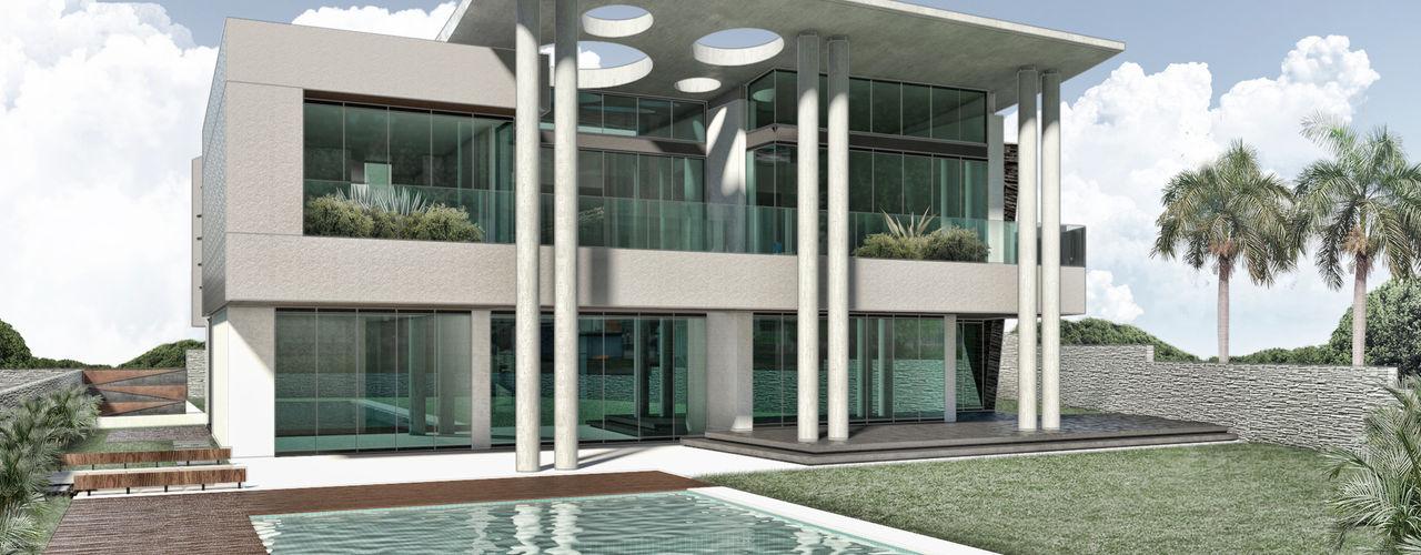Casa 17 Vivian Dembo Arquitectura Casas modernas Concreto Gris