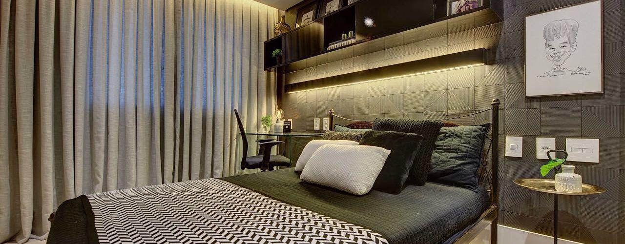 Dome arquitetura Dormitorios de estilo moderno Gris