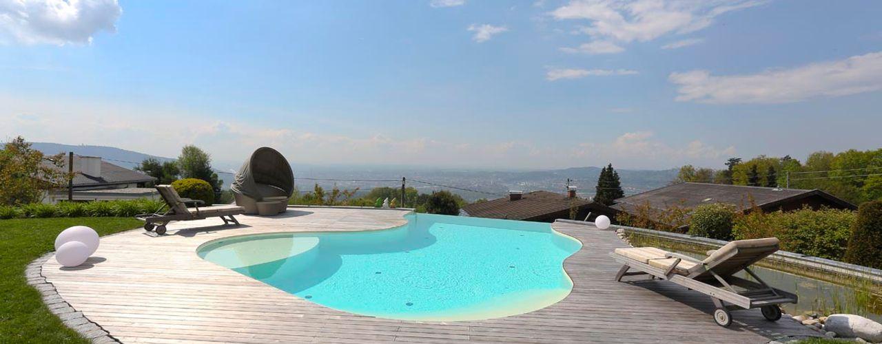 Baden auf höchster Stufe freiraum* Gartenarchitektur GmbH Moderne Pools