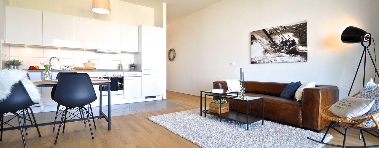 Karin Armbrust - Home Staging Salones de estilo industrial