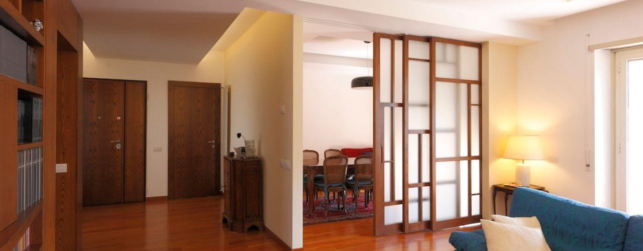 Casa Cassia Daniele Arcomano Soggiorno moderno Legno