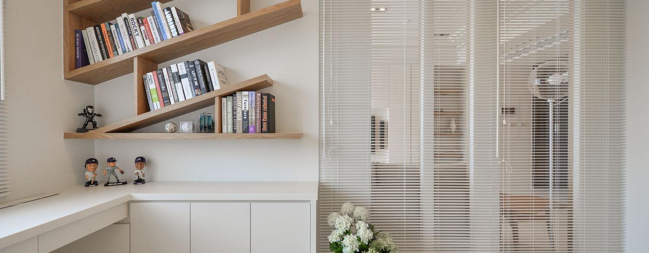 純粹。柔白 存果空間設計有限公司 書房/辦公室