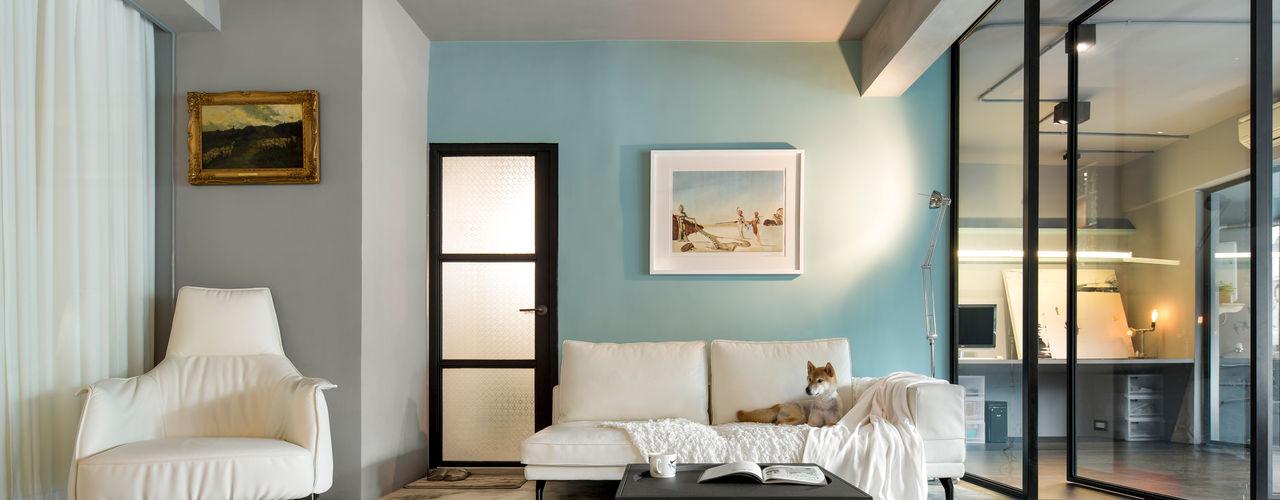 空氣感文青宅 磨設計 客廳