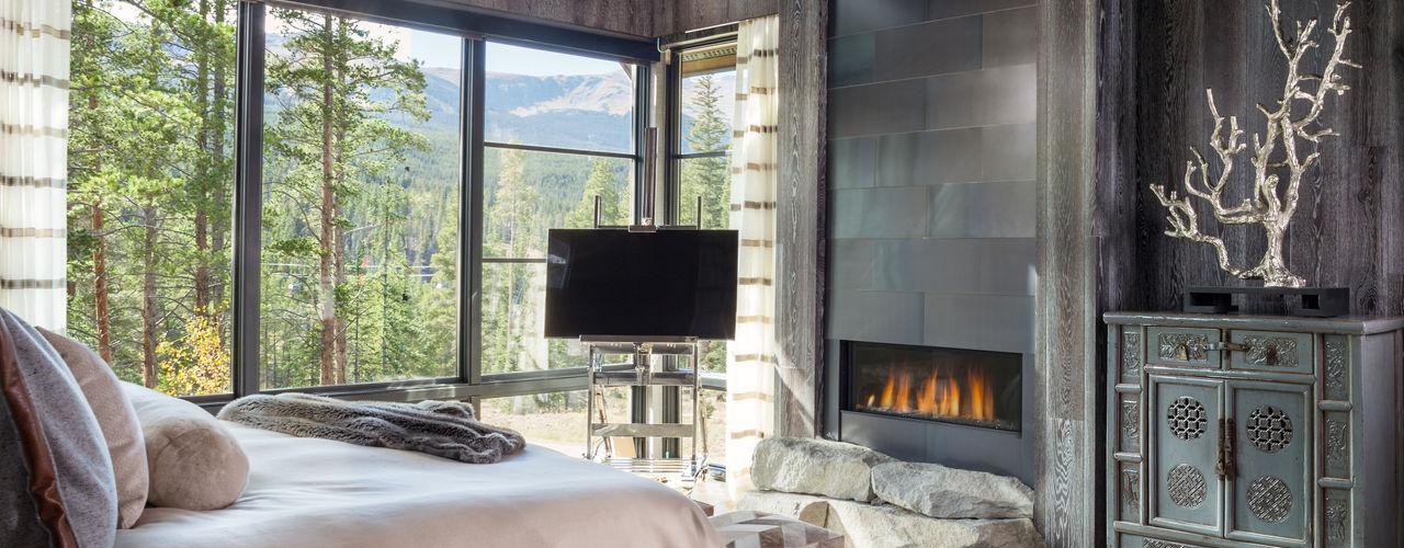 Contemporary Mountain Chalet Andrea Schumacher Interiors Modern Bedroom