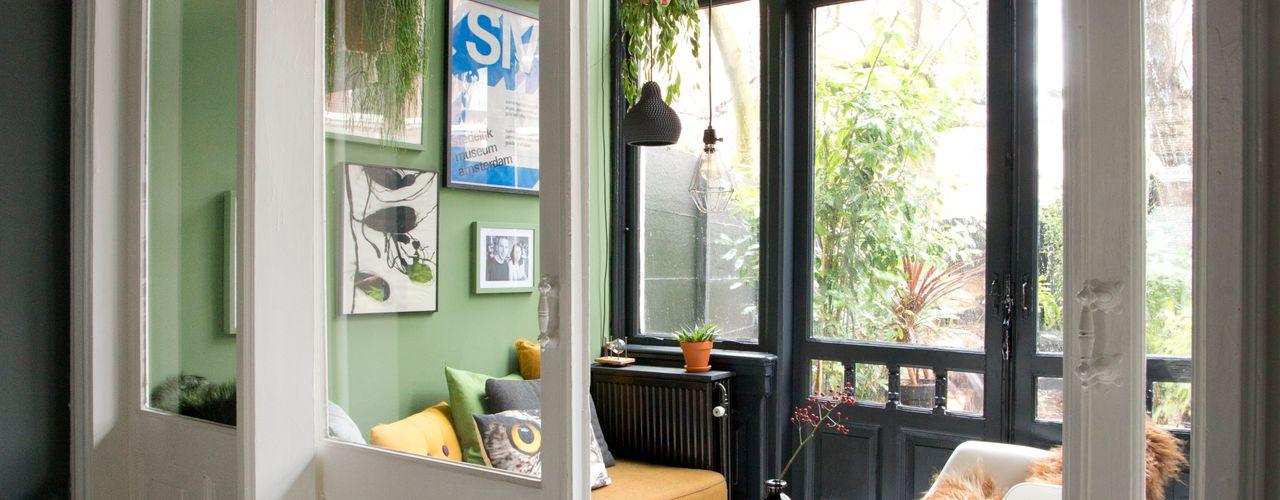 Haags Herenhuis FORM MAKERS interior - concept - design Eclectische serres Kalksteen Groen