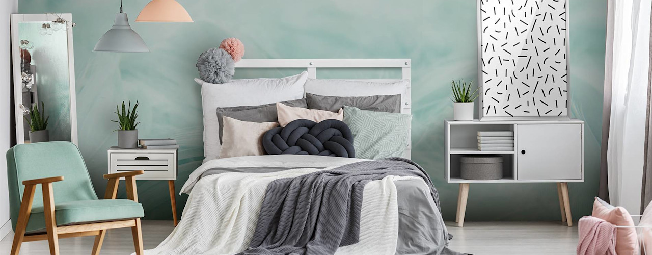 Bedroom Pixers 北欧スタイルの 寝室