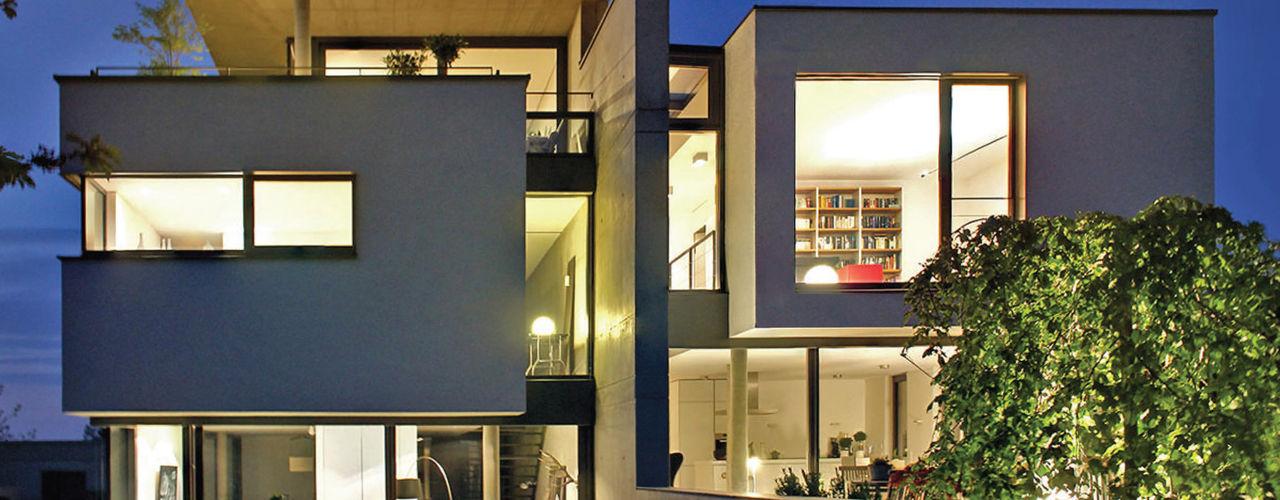 Doppelhaus am Hang Weber und Partner Freie Architekten BDA Einfamilienhaus