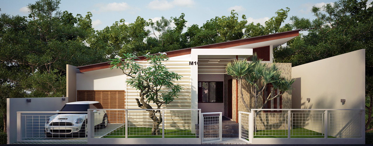 Griya Cipta Studio Rumah tinggal Batu Wood effect