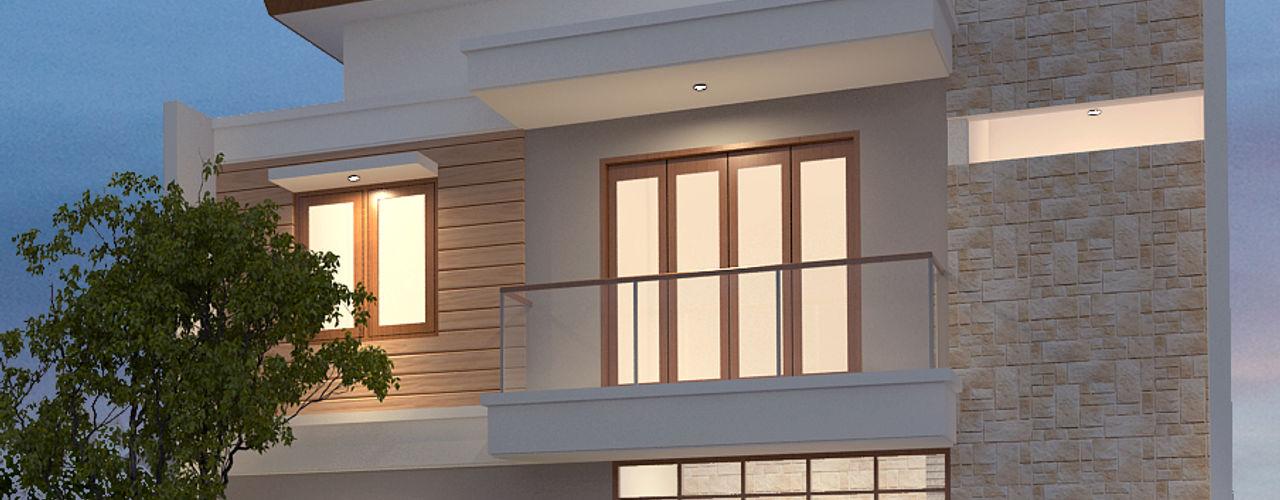Rumah Minimalis Arsitekpedia Rumah tinggal Batu Bata White