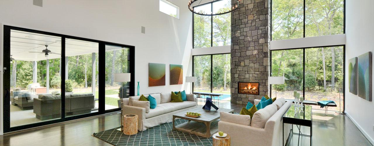 Dunhill Reserve - The Modern Barn Plum Builders Modern Living Room Glass White