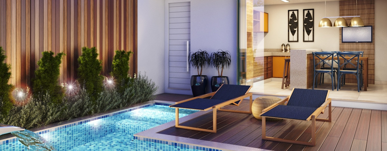 Casa   JP Camila Pimenta   Arquitetura + Interiores Piscina Branco
