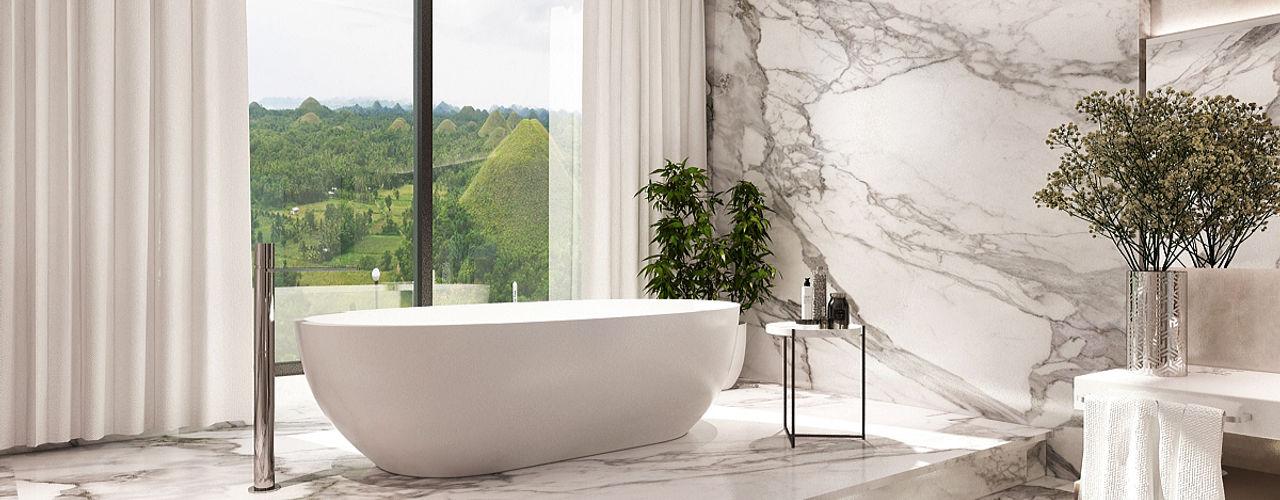 Lighthouse Architect Indonesia 現代浴室設計點子、靈感&圖片