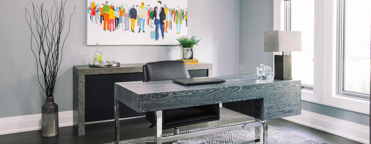 Frahm Interiors اتاق کار و درس Grey
