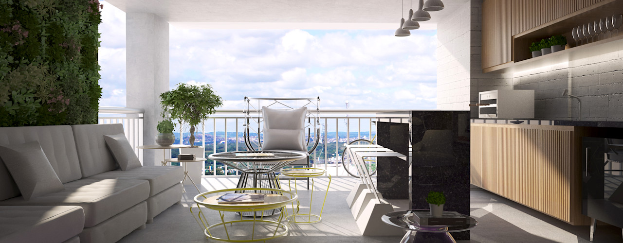 SR HOME - Vila Maria Semíramis Alice Arquitetura & Design Salas de estar modernas