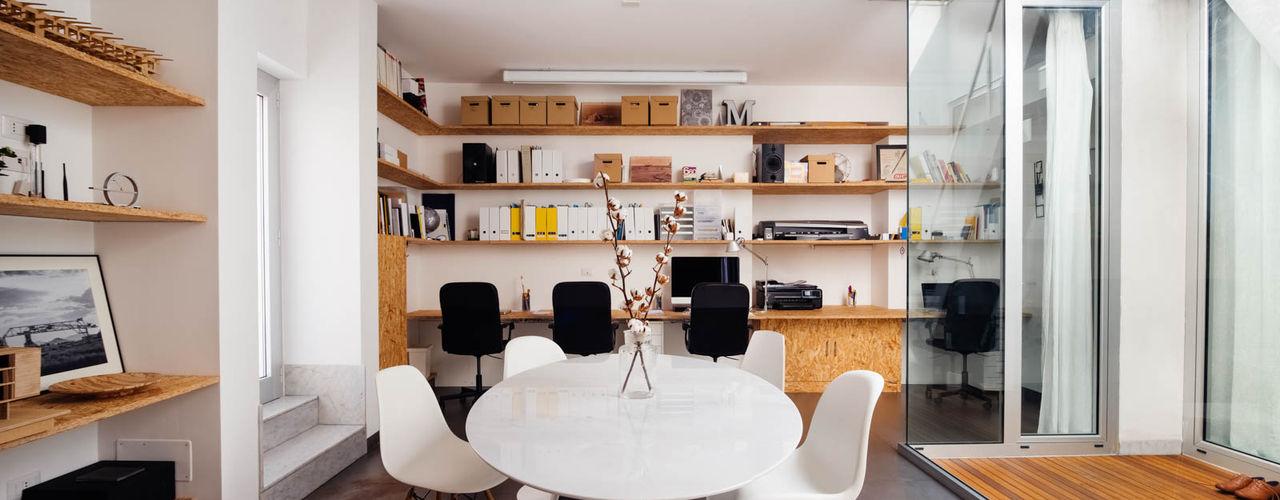 Casa Studio Manuarino manuarino architettura design comunicazione Studio minimalista OSB