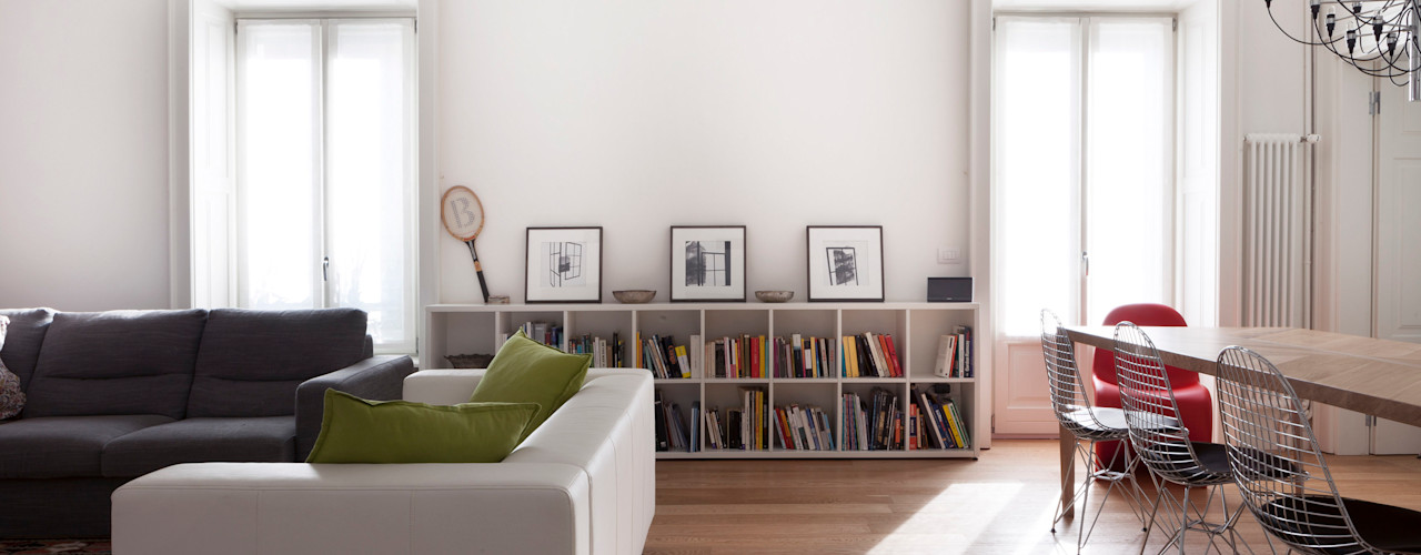AM Family Flat Filippo Colombetti, Architetto Soggiorno moderno
