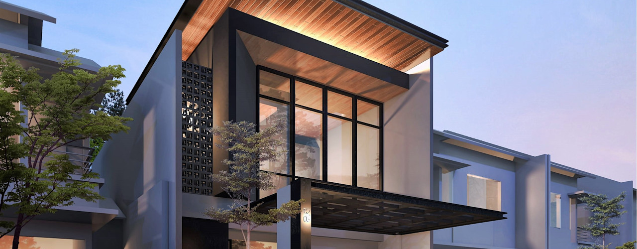 R House Atelier BAOU+ Rumah tinggal Grey