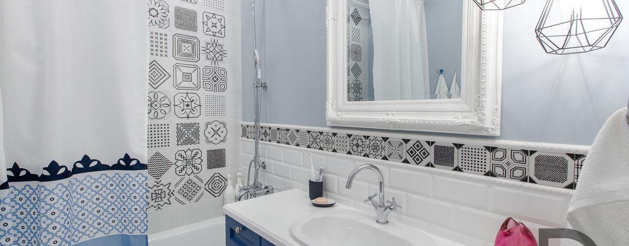 Скандинавский стиль с элементами лофта (реализация) Design Service Ванная комната в скандинавском стиле