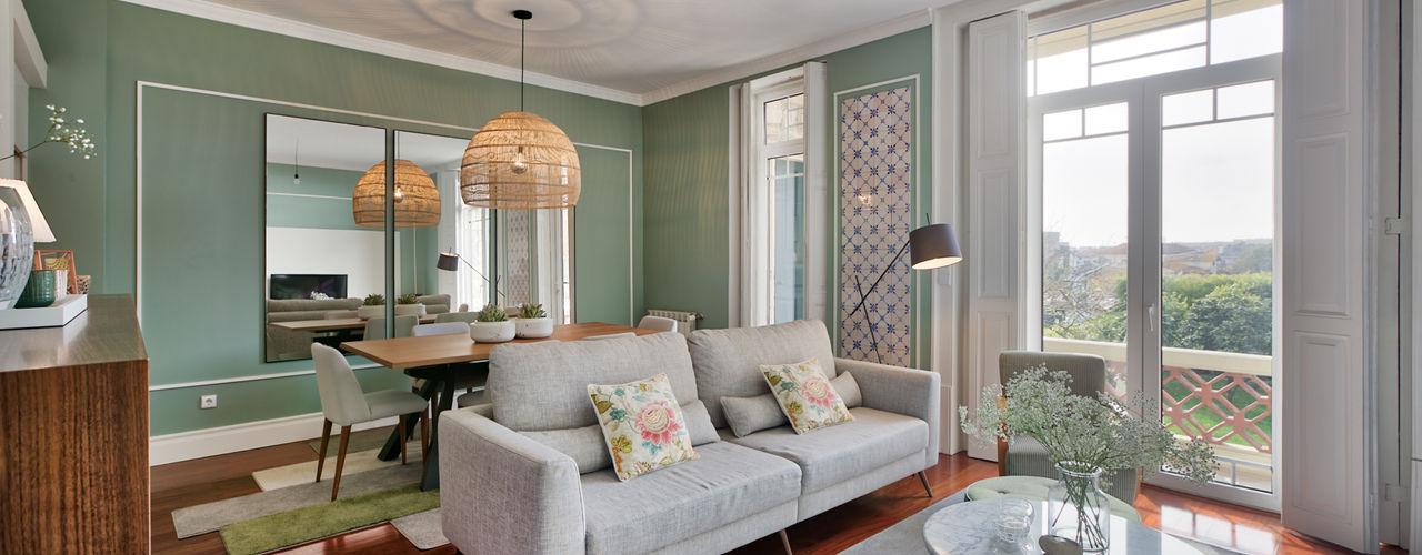 Vivenda em S. Mamede de Infesta - SHI Studio Interior Design ShiStudio Interior Design Salas de estar escandinavas Cinzento