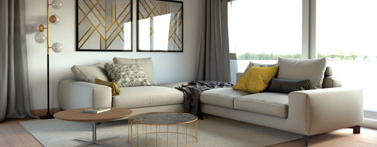 Projetos BORAGUI - Design Studio Salas de estar modernas