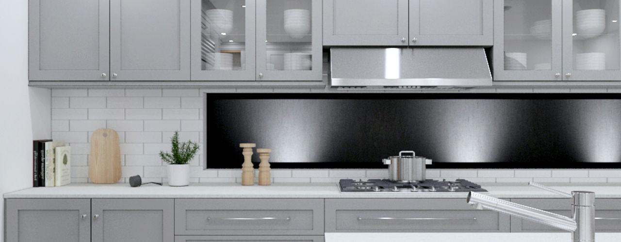 Linken Designs Built-in kitchens Wood Grey