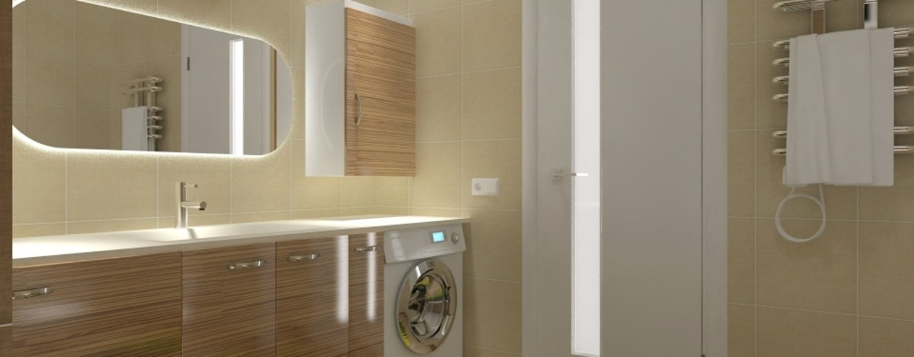 Narlıdere Konut Projesi MİMAR TUĞBA ÖZKILIÇ Modern Banyo