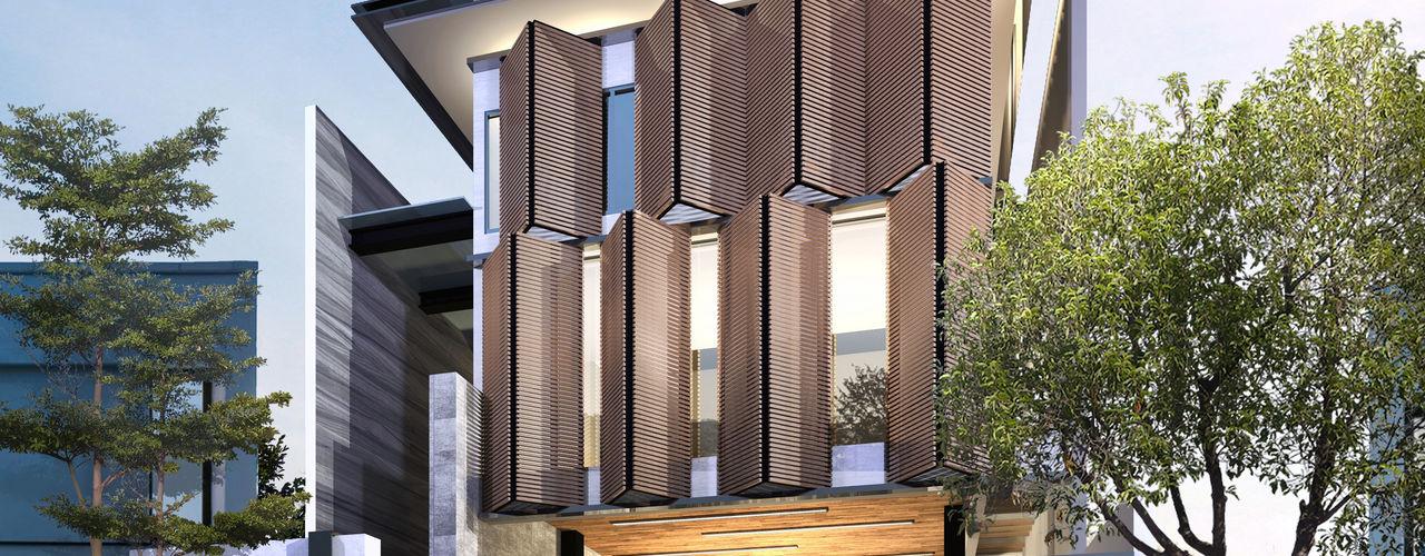 Atelier BAOU+ Single family home Engineered Wood Wood effect