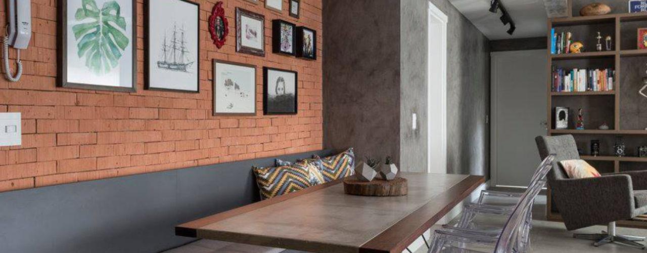 Rabisco Arquitetura Rustykalna jadalnia Cegły Pomarańczowy