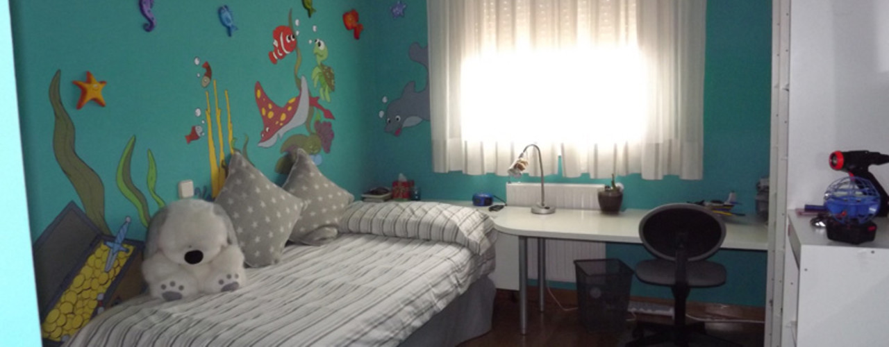 Almudena Madrid Interiorismo, diseño y decoración de interiores Habitaciones para niños Azul