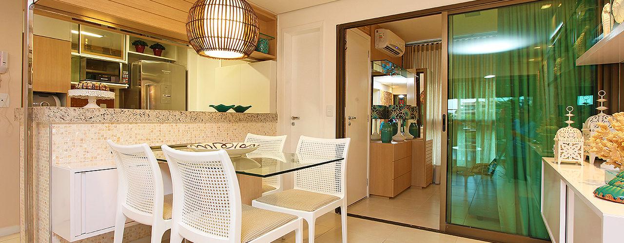 Apartamento em Fortaleza para férias RI Arquitetura Salas de jantar modernas