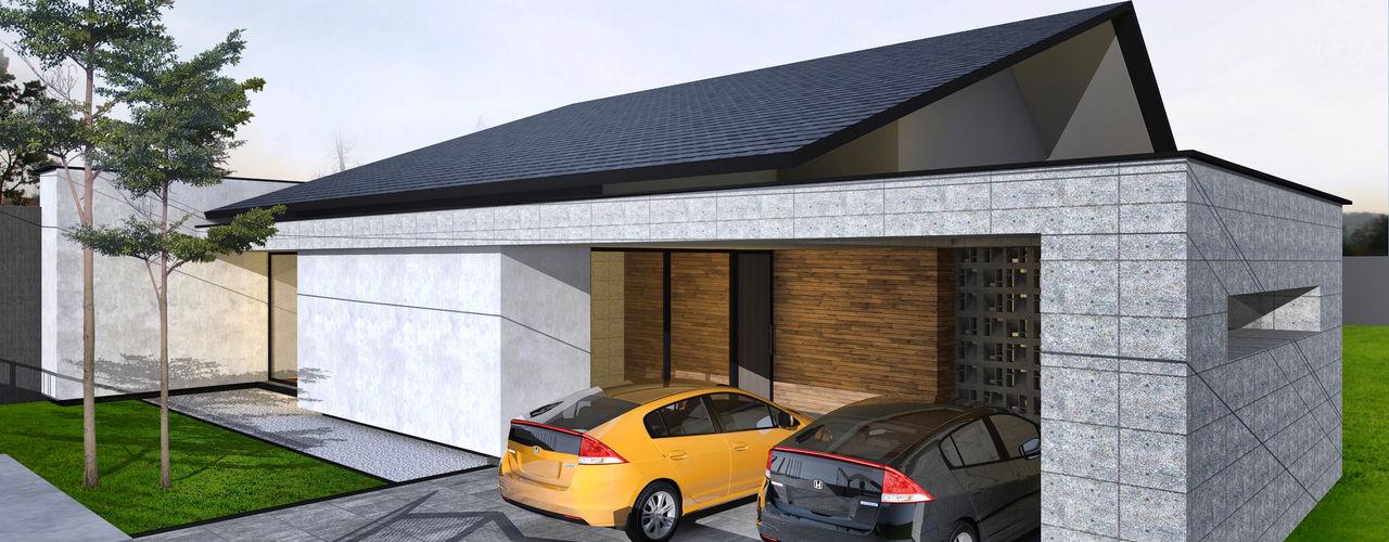 Atelier BAOU+ Casas de madera Madera Acabado en madera