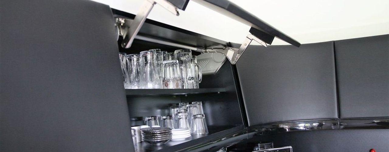 Küche inspiriert vom Passat CC higloss-design.de - Ihr Küchenhersteller Einbauküche Grau